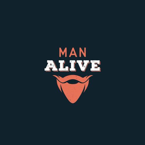 """Vintage logo For """"Man Alive"""""""