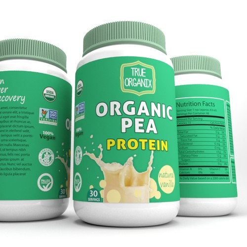 Create a Nutritional Supplement label for a Vegan Protein Powder!