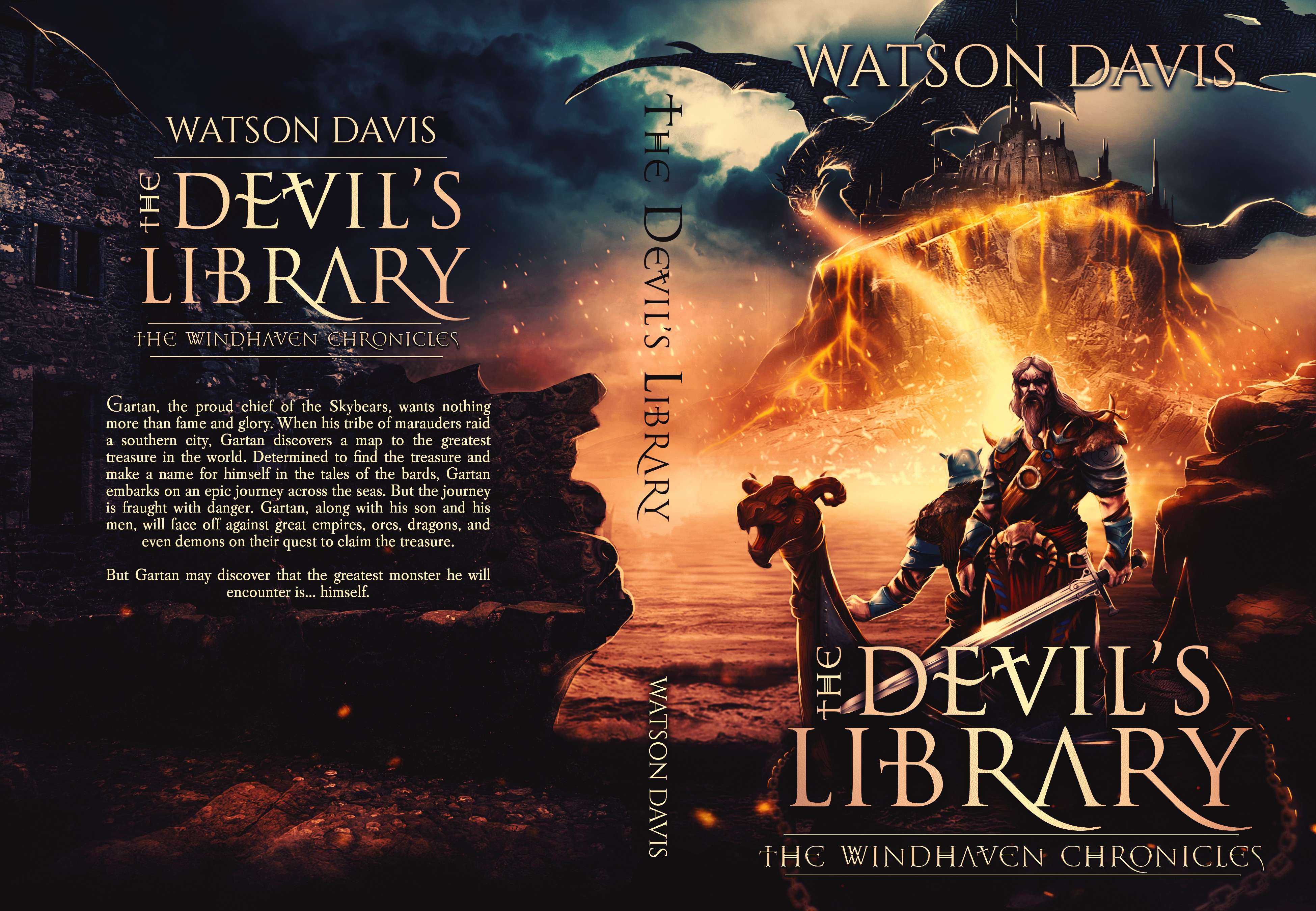 Book Cover for The Devil's Library (Swords and Sorcery/Dark Fantasy)