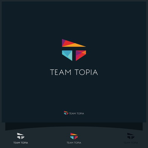 Letter T based logo