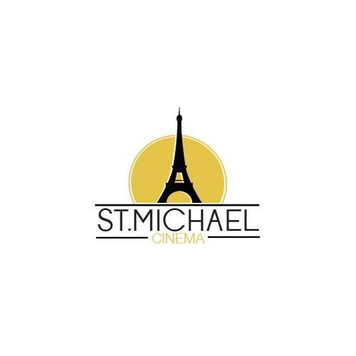 Logo for a Paris-themed movie theatre complex.