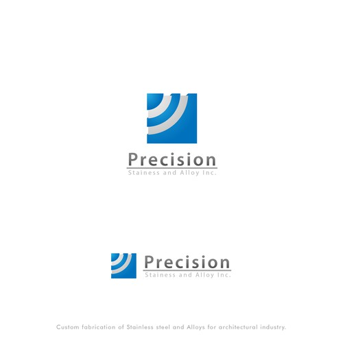 bold logo for precision stainless and alloy inc