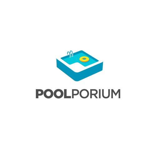 Poolporium Logo Design