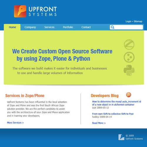 New site and logo design for Open Source Software Company