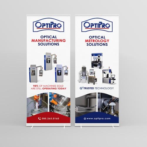 Roll Up Banner Design for Optipro