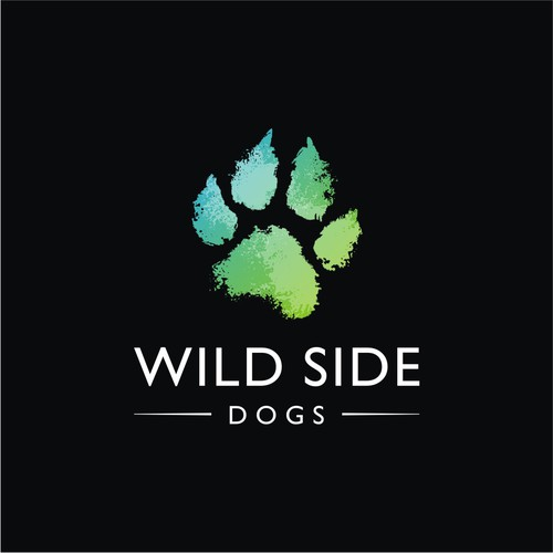 logo design for wild side dogs