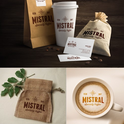 Logo design For Mistral Specialty Coffee