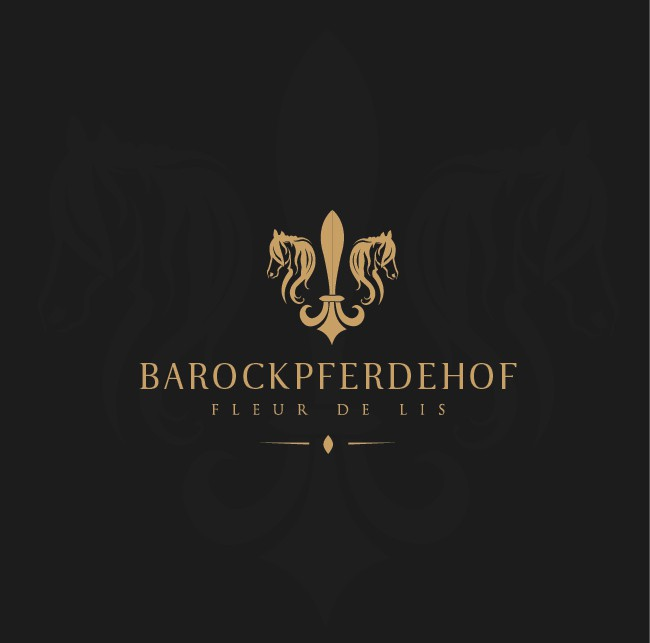 Luxury, pleasant and significant design of a Logo for a baroque horse stable