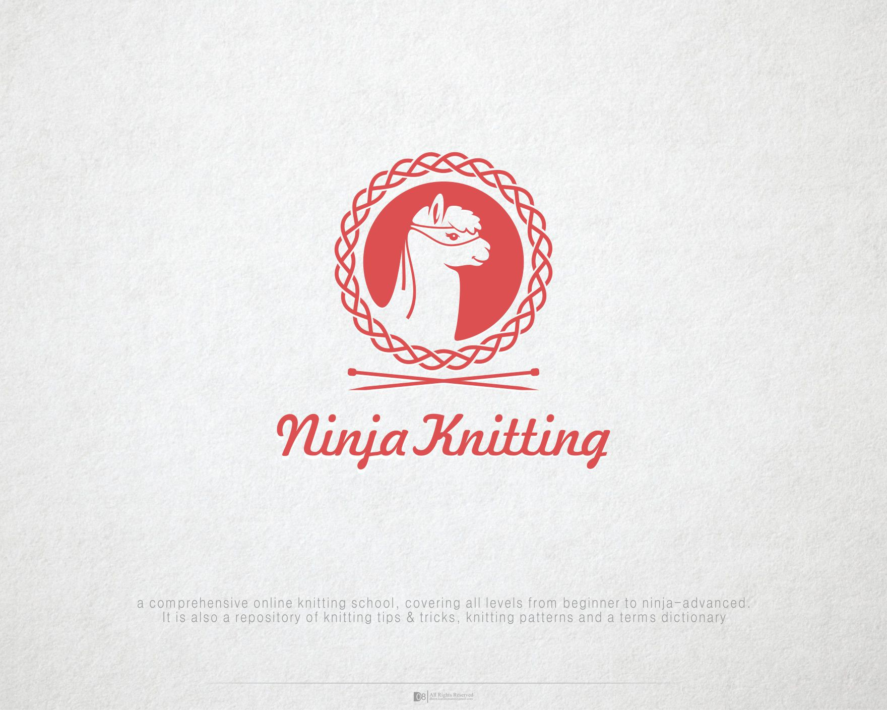 A New Face of Knitting! Create a clever logo for Ninja Knitting: online knitting school