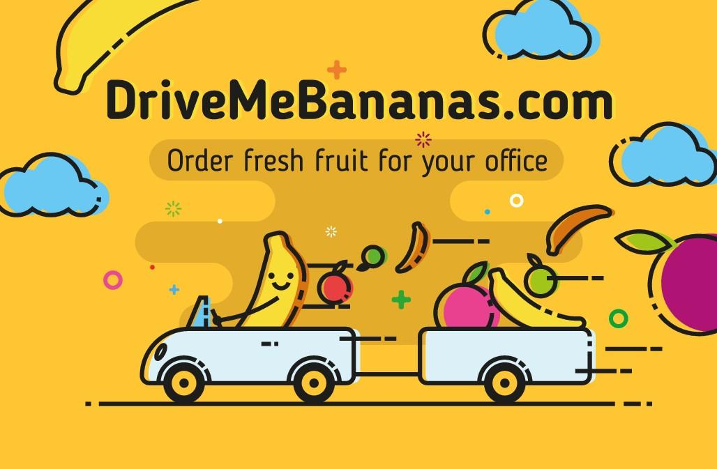 Design a takeaway card for DriveMeBananas.com