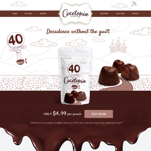 Website Design Concept for Cocotopia