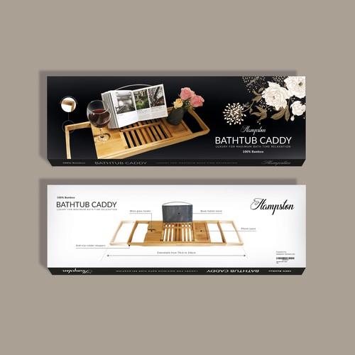 Packaging for a Bathtub caddy