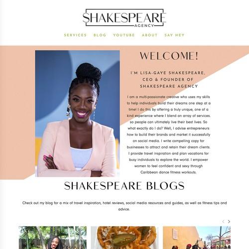 Shakespeare Agency Design