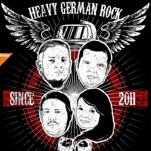 Rock- Band sucht Merch Design