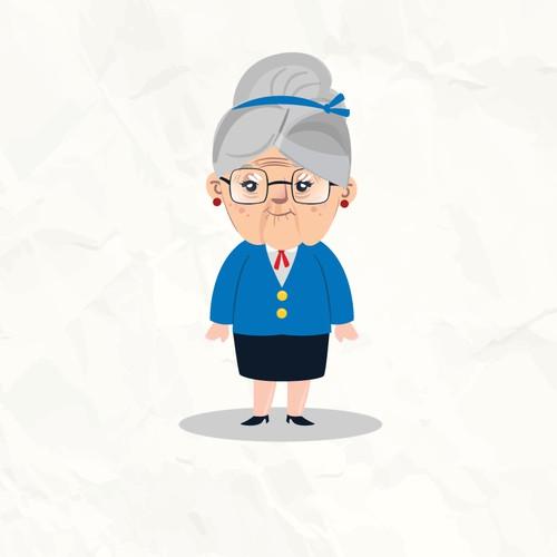 Mascot old lady