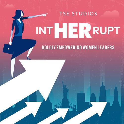 Women Leadership Podcast Cover Winning Design