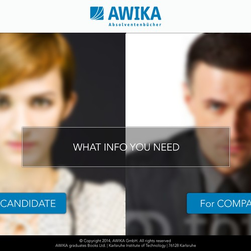 Create the new web design for AWIKA