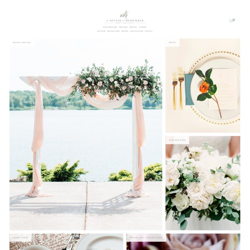 A 'Wishlist' E-commerce Website For An Event Rental Company