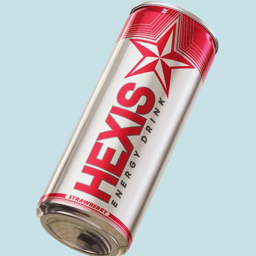 Modern and classy energy drink label