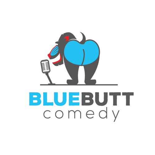 Logo for BlueButt Comedy