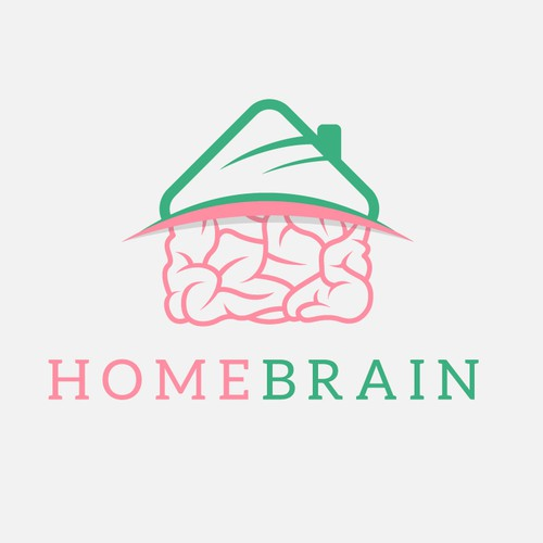 HomeBrain - High-end Logo for Home Owners
