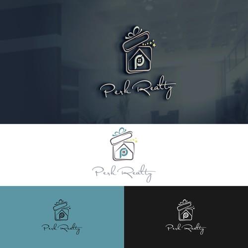 "a logo for ""Perk Realty"""