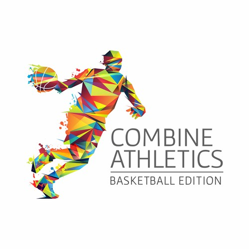 Logo design concept for Combine Athletics basketball camps.