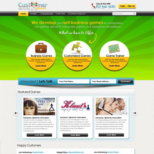 website design for CustomerGames
