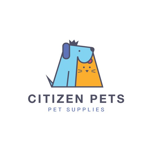 fun, young simple logo for an animal supply store