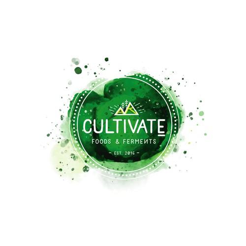 Watercolor Fresh Logo for Healthy Food Company