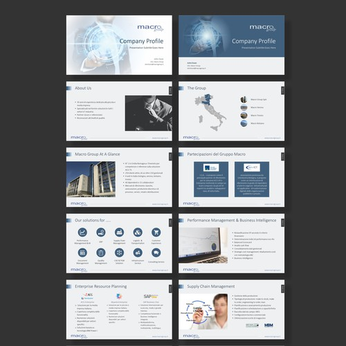 Modern and simple powerpoint design for IT company