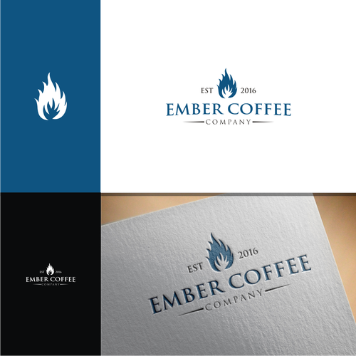 logo concept ember coffee company