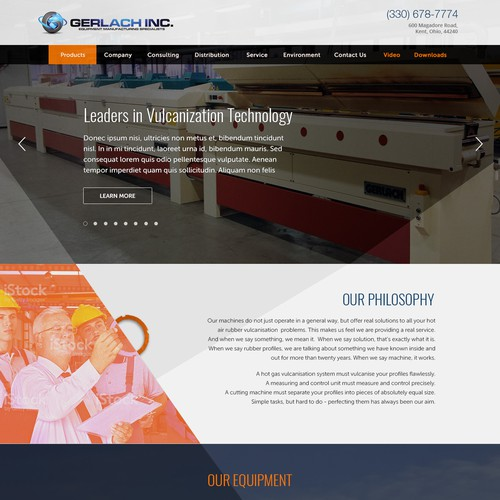Wordpress theme design for Gerlach Inc.