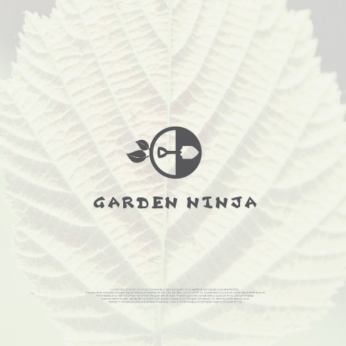 Iconic Logo for Garden Ninja