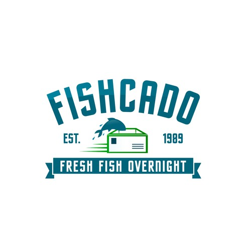 Logo for a fresh fish delivery company