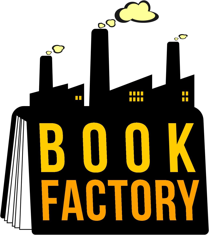 Creative logo for Book Factory