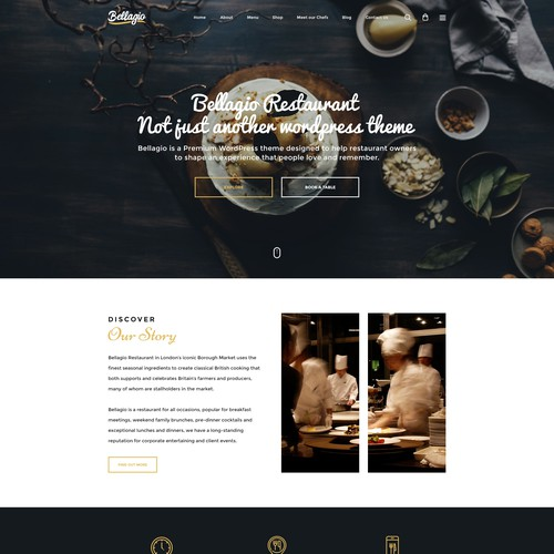 Restaurant Theme /homepage/desktop