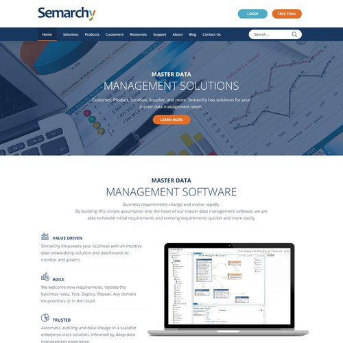 semarchy website redesign