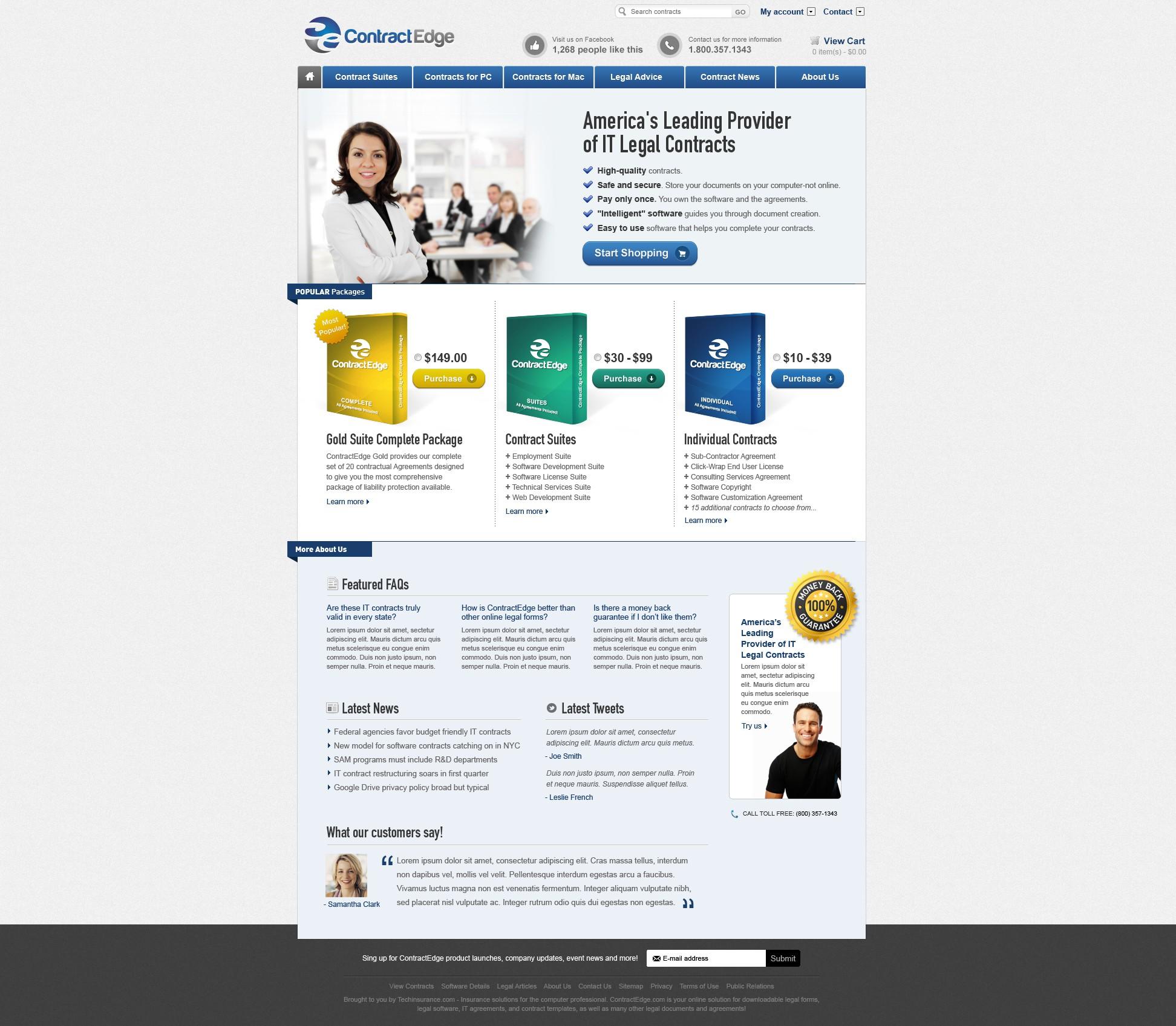 Contract Edge needs a new website design