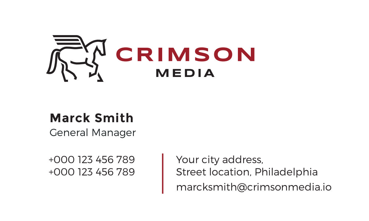 Full Branding Package: Crimson Media