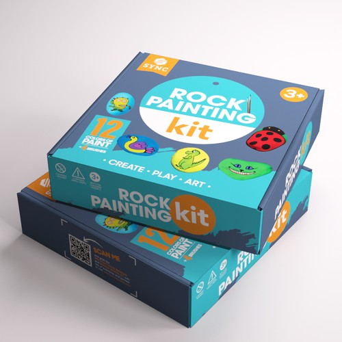 Packaging for Rock Painting Kit