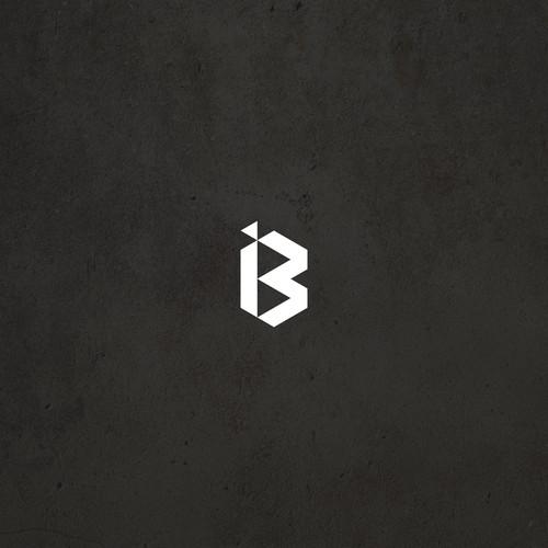 Simple modern logo for Barking Iron Media