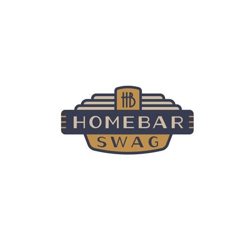 Art Deco logo for a home bar supply store