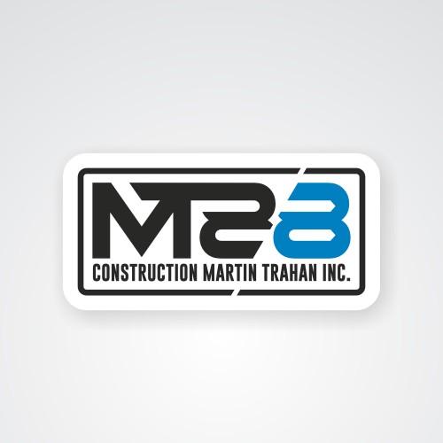 Strong concept logo for construction company