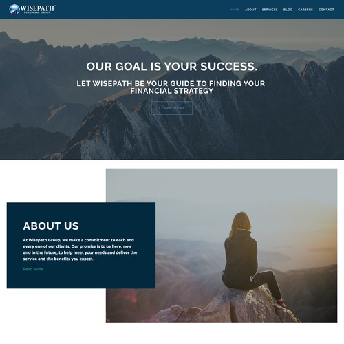 Professional financial group website design