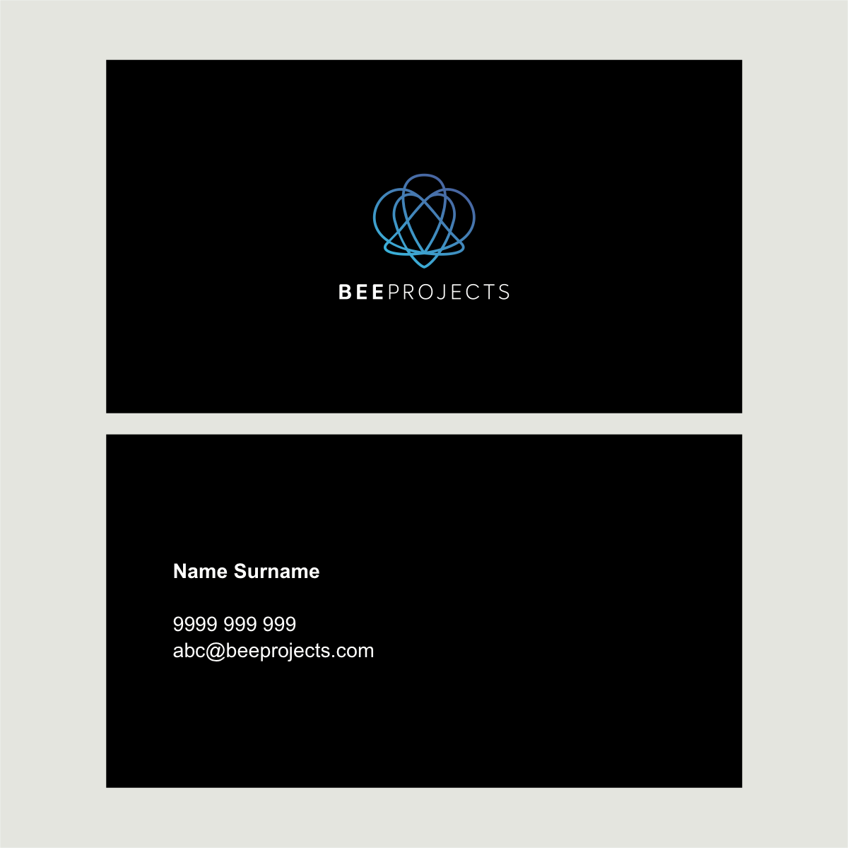 Creation of our logo, business card and web home page design