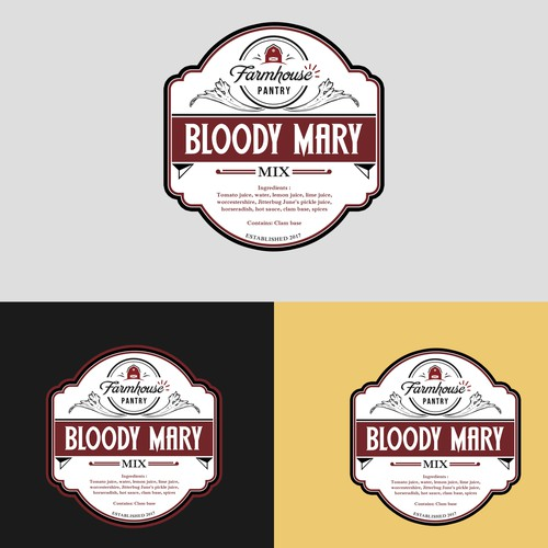 Bloody Mary Labell