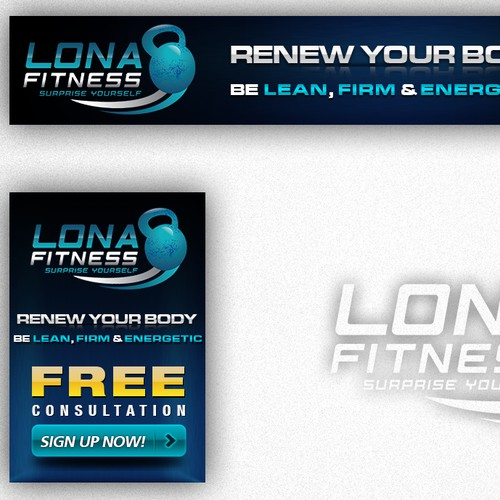 Header & Ad for Fitness Website