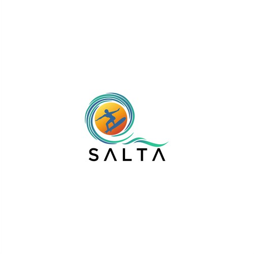 capture the beauty of sand, sea, surf/kitesurf in a simple and easily identifiable logo