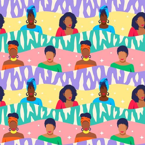 Black Women Clutch Pattern
